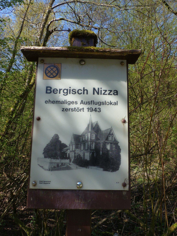 Schild Bergisch Nizza